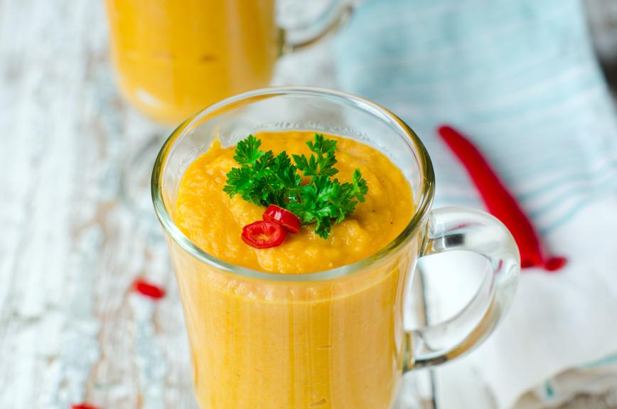Carrot soup - puree