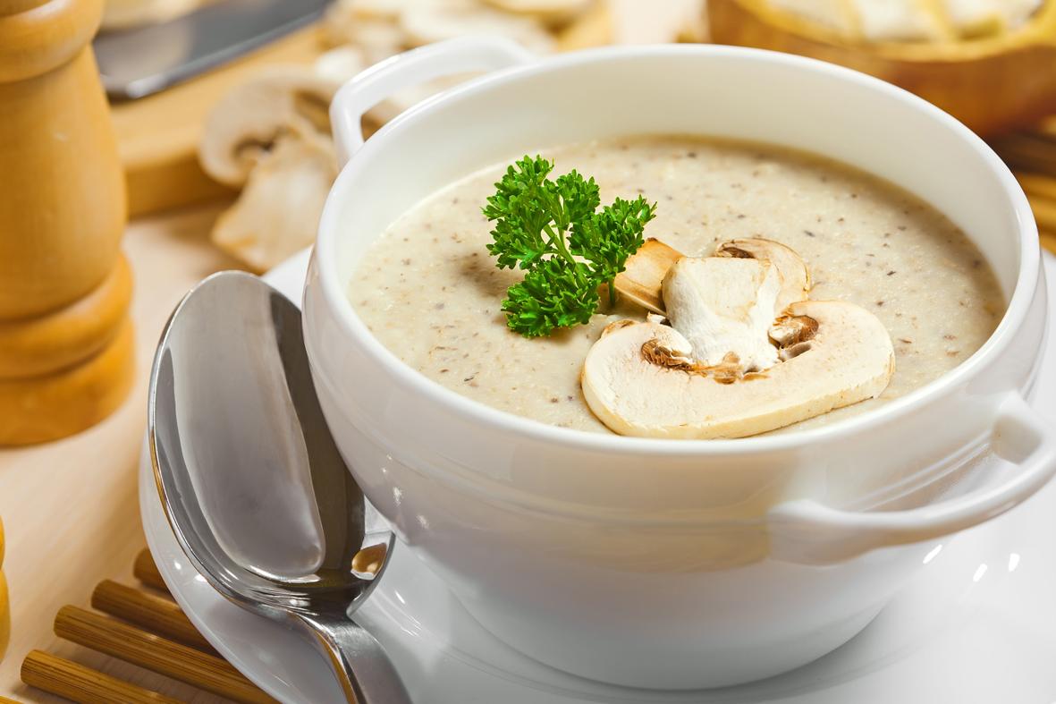 Soupe crémeuse aux champignons - Laura Miam : collection